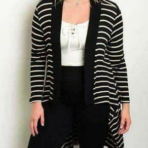 New Plus Stripe Sweater 1x 2x 3x
